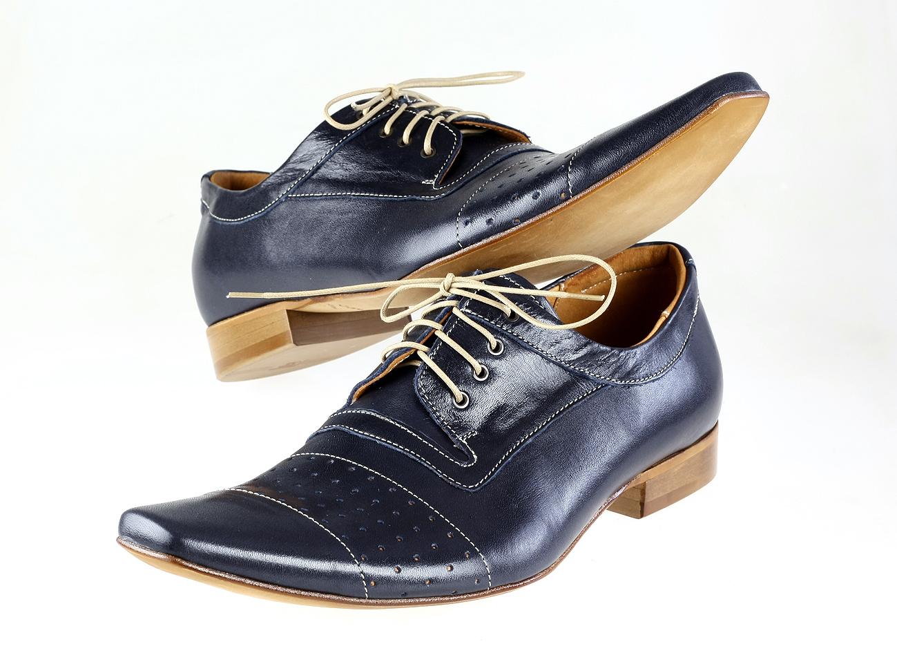 a78571cce2 TOPOBUV - Pánska spoločenská obuv 198b 91 Blue arcadia